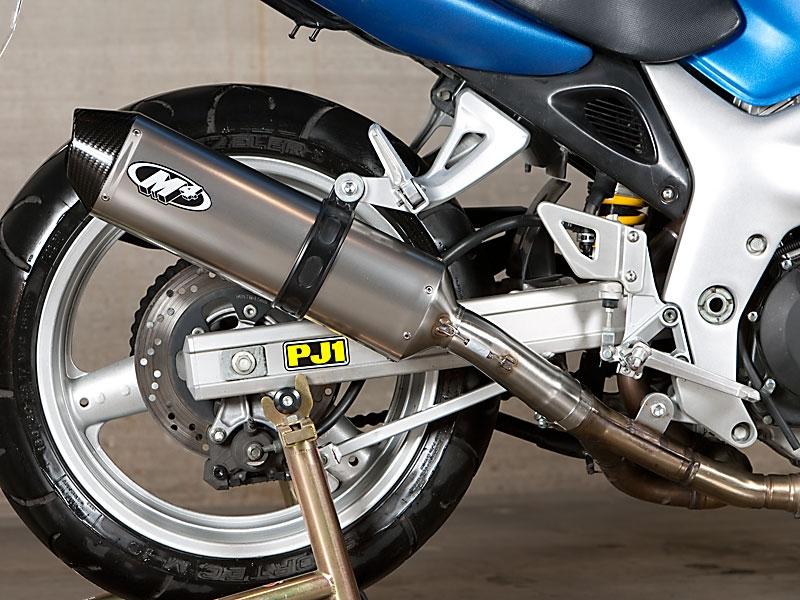 2003 suzuki sv650 m4 race mount full exhaust system w all stainless steel tubing titanium muffler su6676