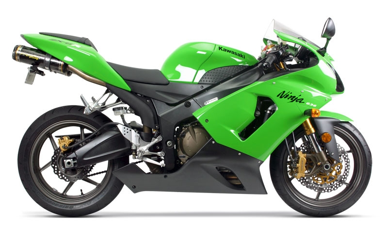 2005 2006 kawasaki zx6rr zx6r 636 two brothers racing slip on exhaust system standard gold series dual canister