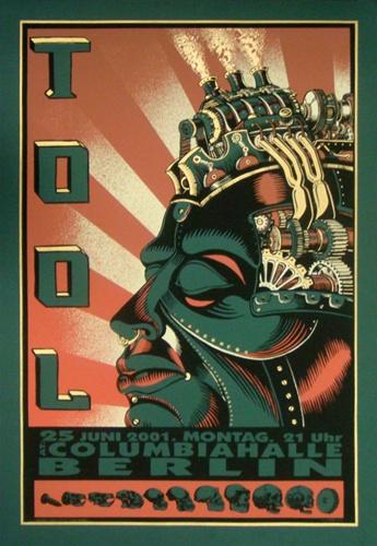 emek tool original rock concert poster
