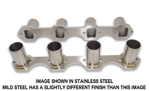 small block ford header flanges with stubs mild steel