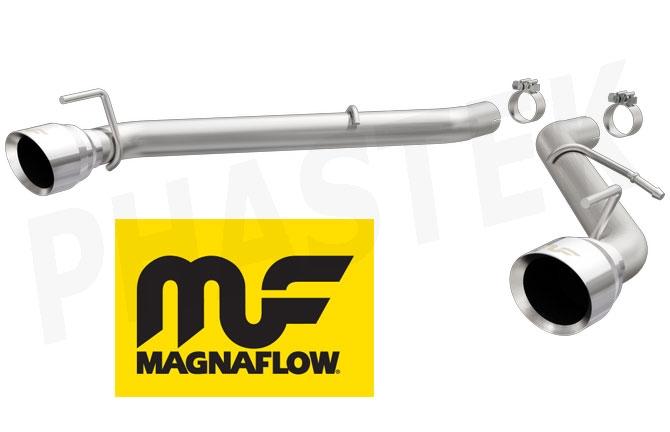 magnaflow v6 axle back race exhaust 19331 2016 2021 camaro v6