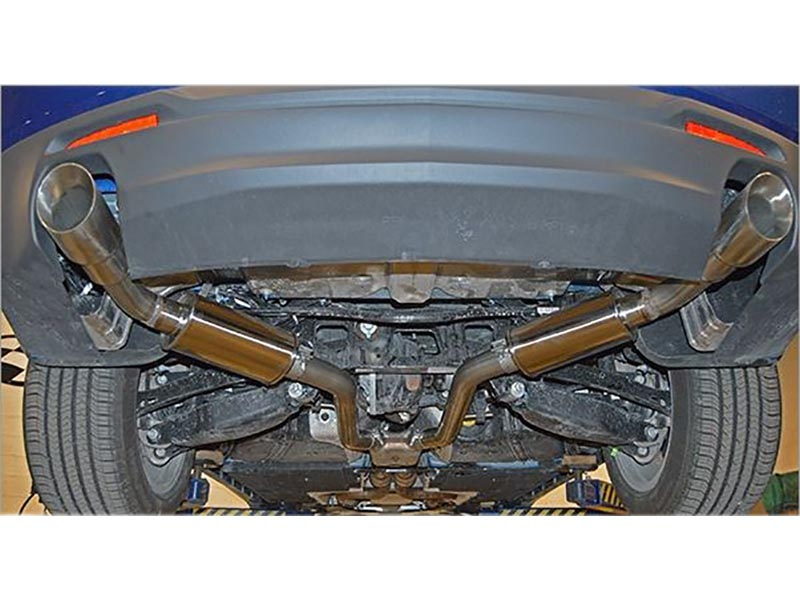 mrt 2 5 version 2 axle back exhaust system 4 tips 2019 2021 camaro v6