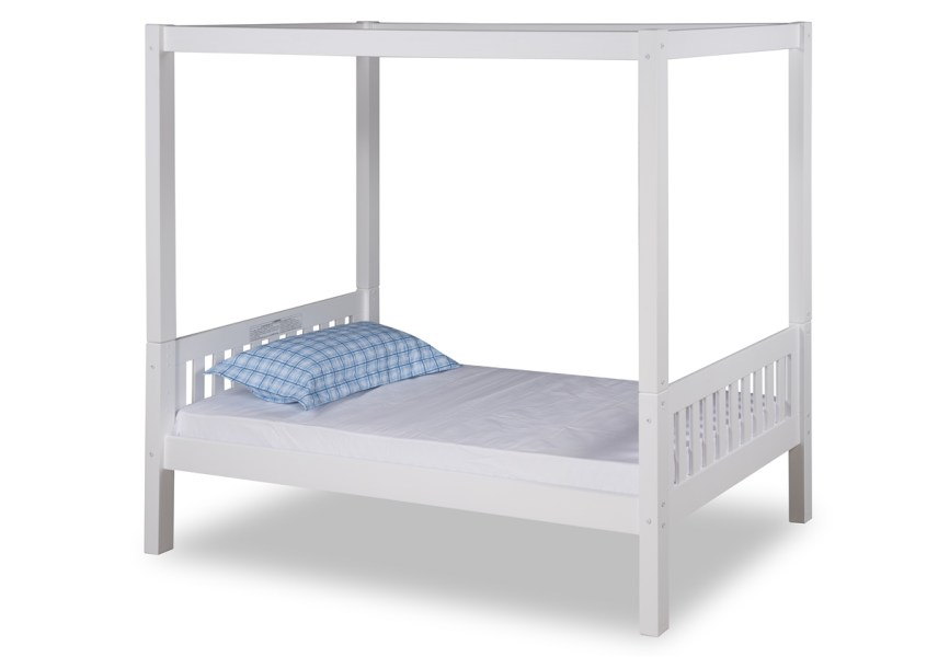 Expanditure Twin Canopy Bed   Mission Style   White Expanditure Twin Canopy Bed   Mission Style   White Larger Photo