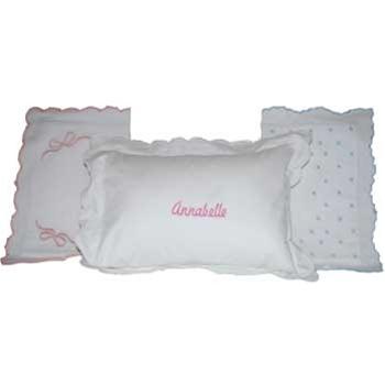 scalloped edge baby crib pillow