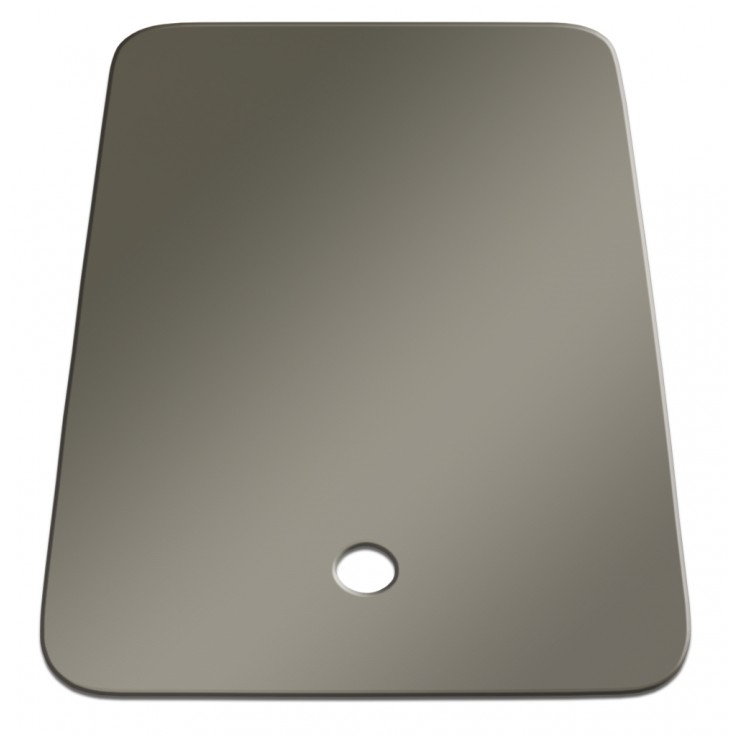 lippert 306197 better bath large right sink cover stainless steel
