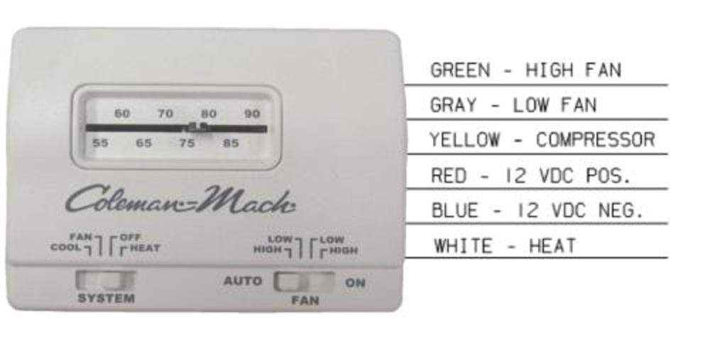 Coleman Mach 7330G3351 Analog HeatCool RV Air Conditioner