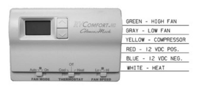 coleman mach 83303362 digital heat/cool rv thermostat  white