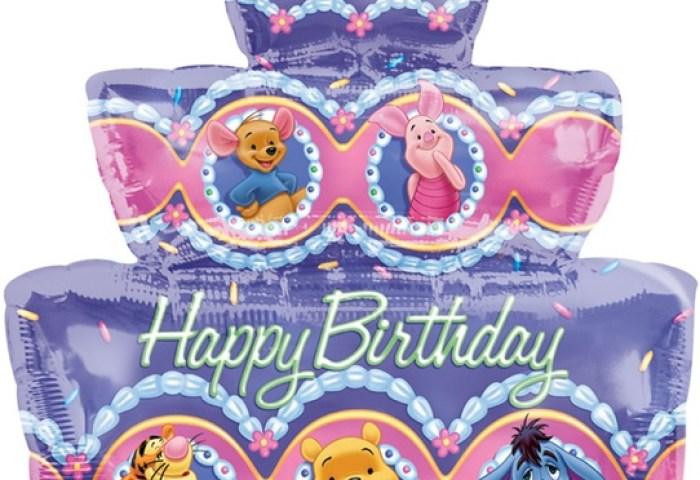 28 Inch Disney Winnie The Pooh Party Happy Birthday Cake
