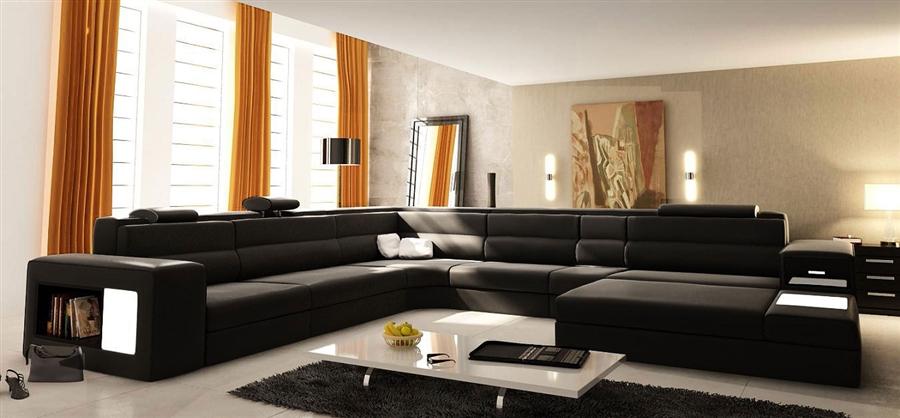 modern italian design sectional sofa