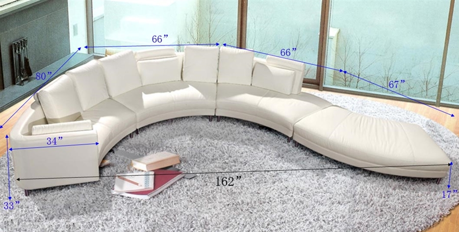 modern style sectional sofa white