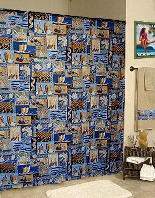 beach themed shower curtain dm418 sunset beach