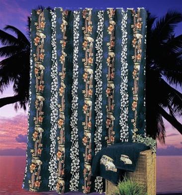 hawaiian shower curtain tropical shower curtain