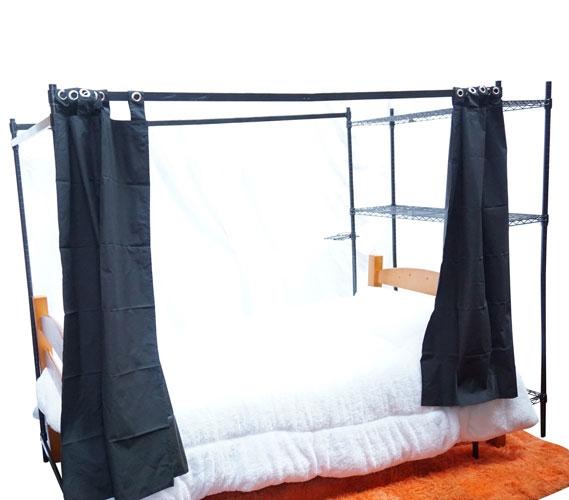 suprima over the bed shelf supreme privacy frame