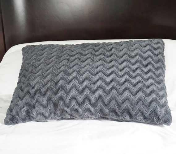 college plush jumbo wide body pillow steel gray