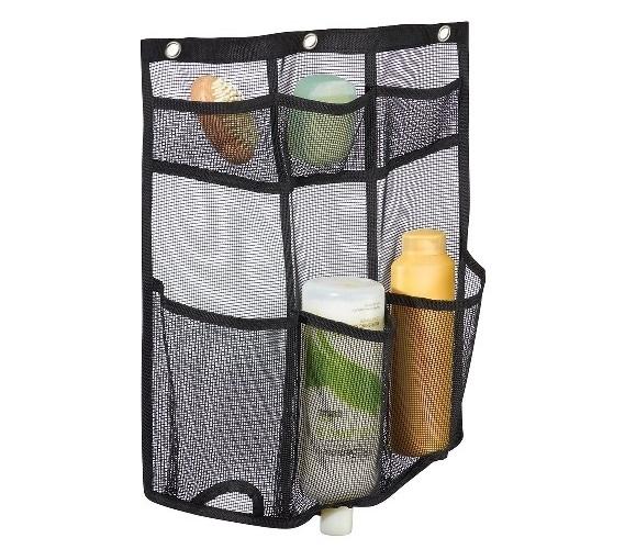 Mesh Storage Hanging Shower Caddy Black Dorm Shower Caddy