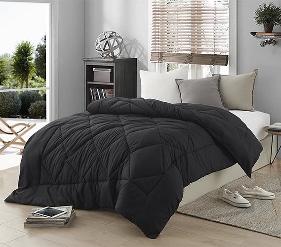 dorm bedding black comforter twin xl bedding