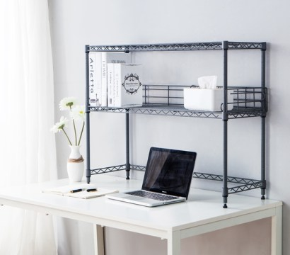 Suprima Desktop Metal Bookshelf   Gray Product Reviews