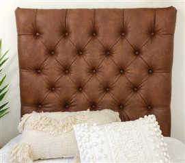 Uniquely Stylish College Headboards with Beautiful Tufted ... on Cognac Leather Headboard  id=97666