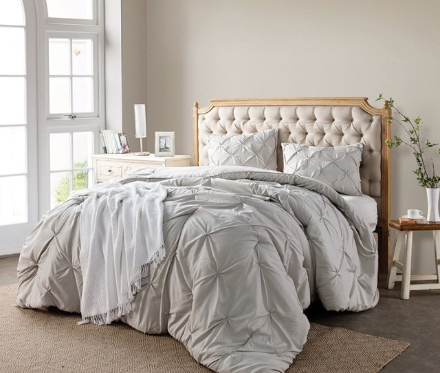 Softest Bedding Silver Birch Pin Tuck King Comforter Comforter King Size