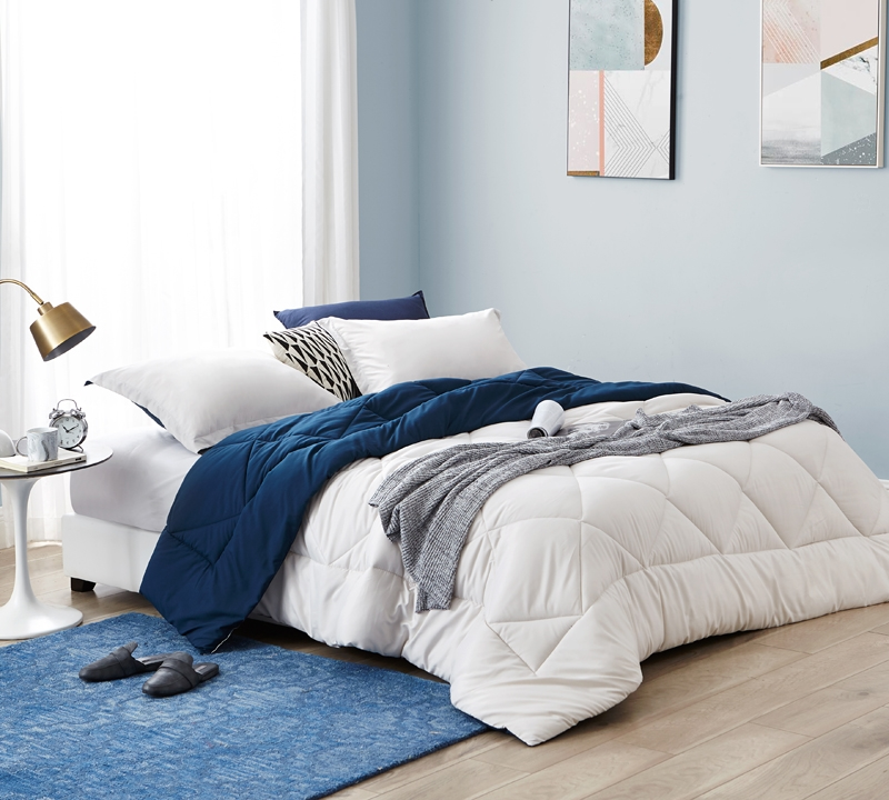 jet stream nightfall navy twin comforter oversized twin xl bedding