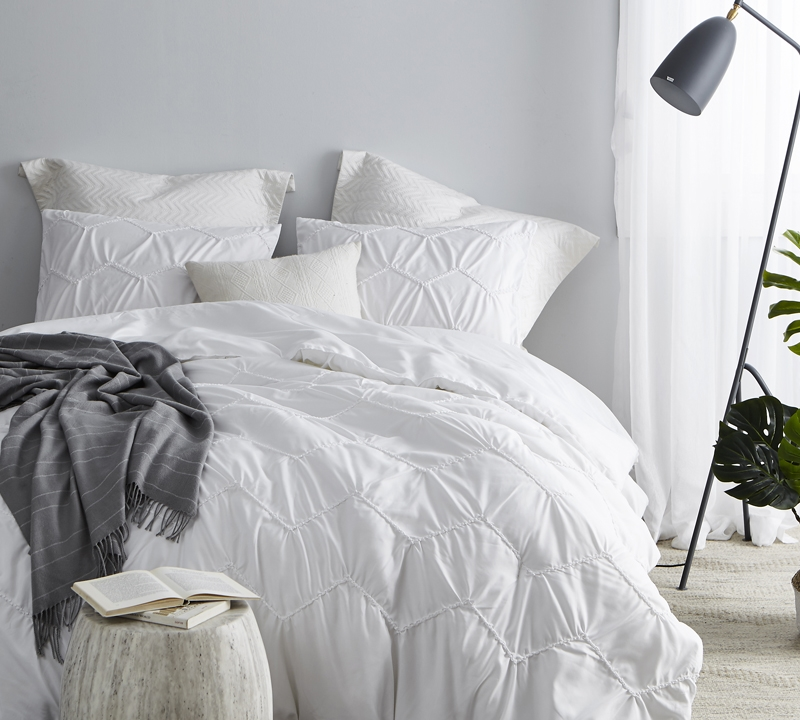 textured waves king comforter supersoft white oversized king xl