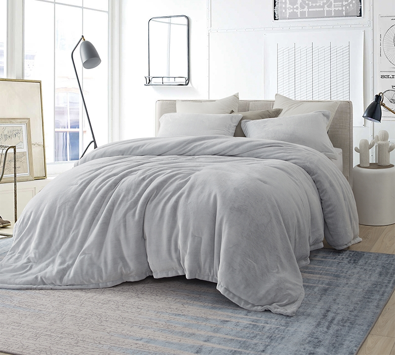 coma inducer king comforter oversized king xl bedding frosted granite gray