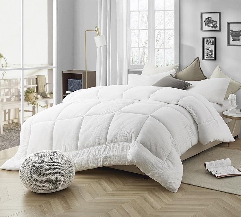 natural loft down alternative oversized comforter