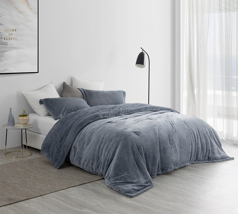cozy plush unique navy blue extra large twin queen or king comforter extra thick inner fill
