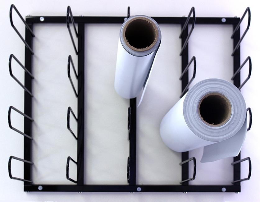 vinyl roll wall mount storage rack
