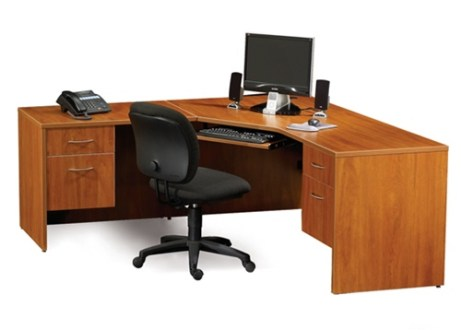 Maverick Desk MMCD72 Computer Corner Desks 72  x 72  w  Box File     Maverick Series Corner Computer Desk