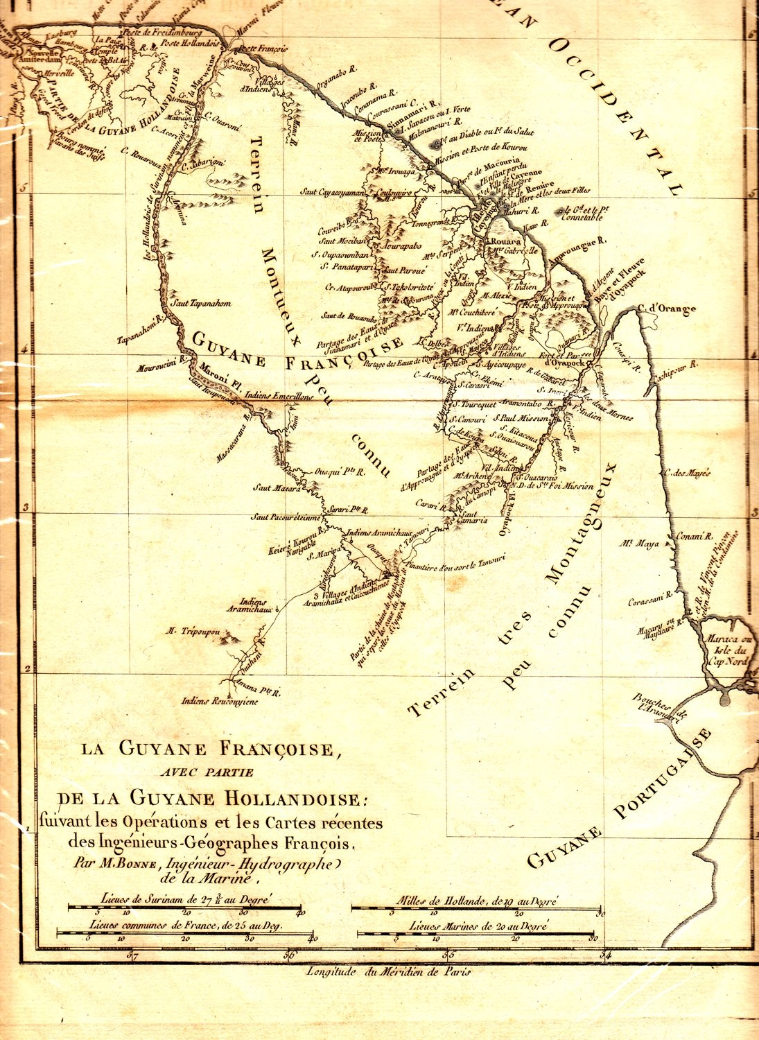 Antique Map Of South America By M Bonne Circa 1780 An Early Rare French Map Of