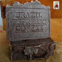 Natural Artisan Handmade  Brazilian  Coffee  Espresso Soap Hint of Vanilla