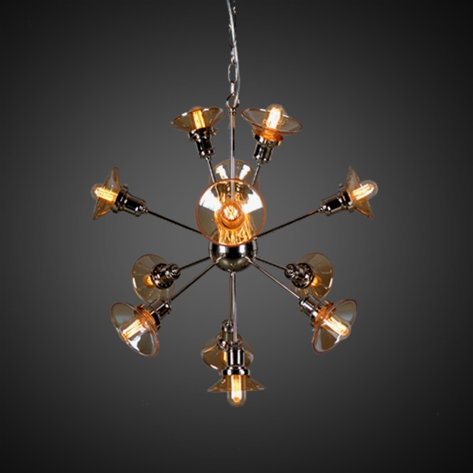Starburst Chandelier With 12 Bulbs