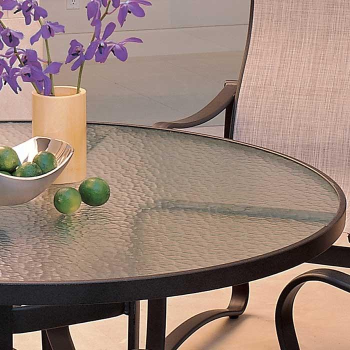 220 thick x 48 diameter clear plexiglass patio tabletop