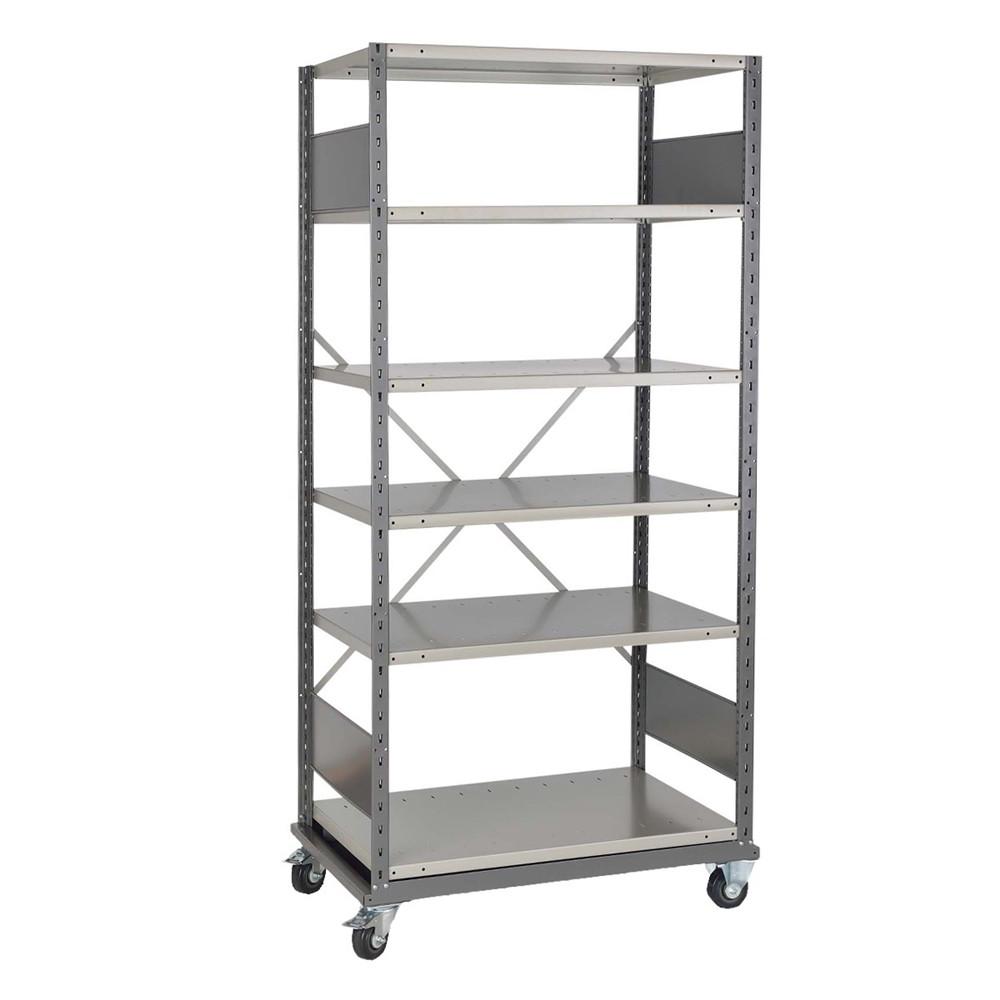 steel shelves with wheels 3 w x 2 d x 5 10 h sms 81 shd4002m