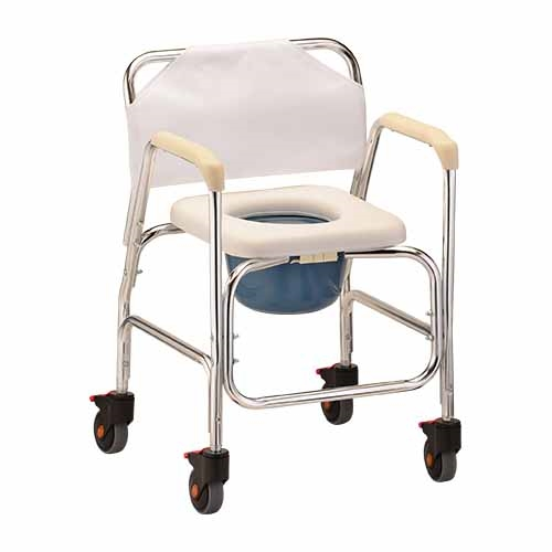 Nova 8800 Shower Commode Chair with Wheels   Rolling Commode Chair Larger Photo Email A Friend