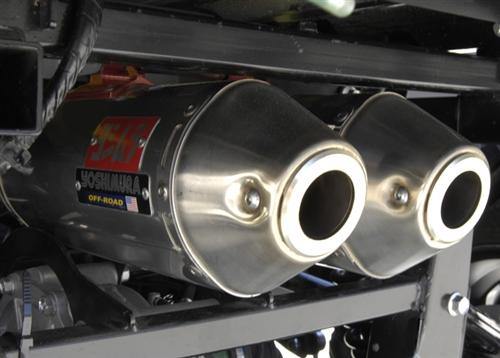 yoshimura utv rs 2d complete system dual exhaust 2005 2007 yamaha rhino 660