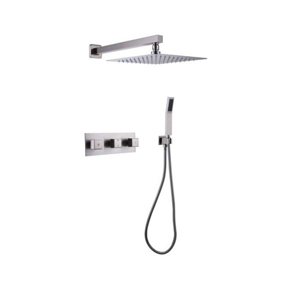 fontana sita platinum led shower head set with diverter mixer and led spout