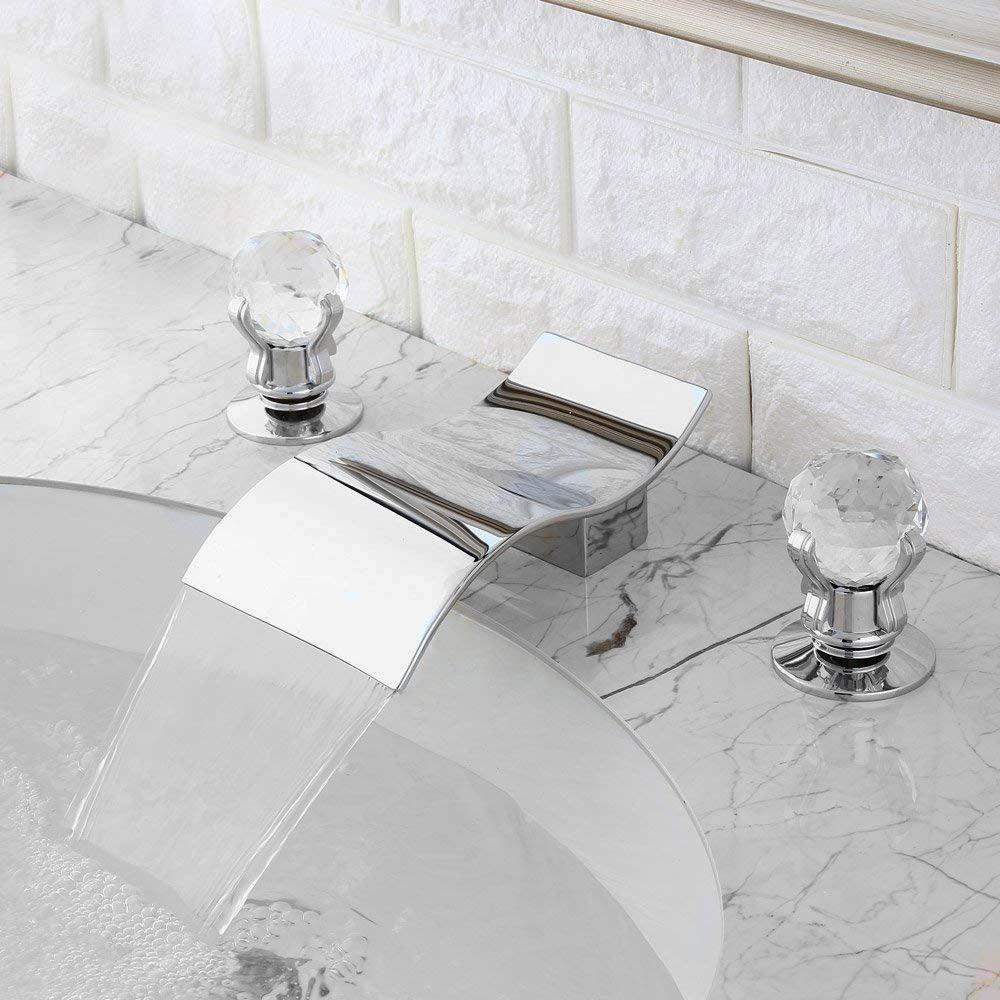 fontana santo chrome waterfall bathroom sink faucet