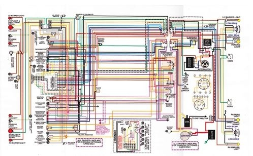 1967  81 Firebird Laminated Color Wiring Diagram 11