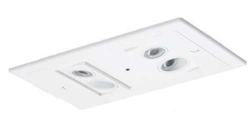 dual lite ev4ri recessed ceiling mount led emergency light with spectron self diagnostic white finish