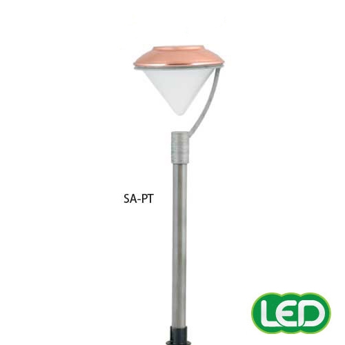 hubbell outdoor lighting sa pt 1 5w led saturn lightscraper landscape light die cast aluminum pewter finish