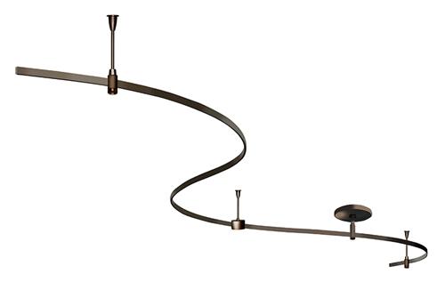 juno monoline track lighting mlks2 brz 8 ft starter kit vintage bronze finish