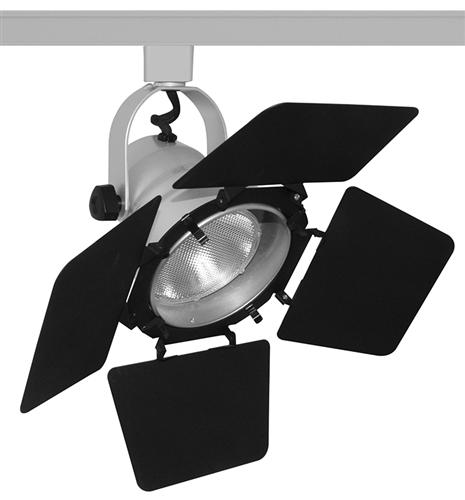 juno track lighting t292sl t292 sl studio ii with barn door line voltage 75w par30 silver color