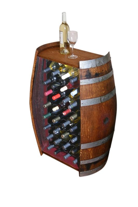 wine barrel cabinet 32 bottles