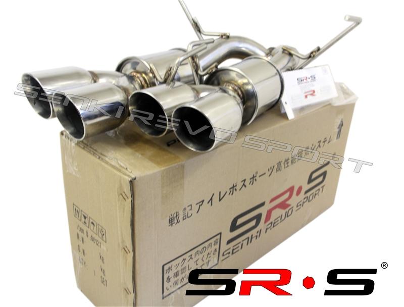 srs 2015 wrx sti quad axleback exhaust system w muffler