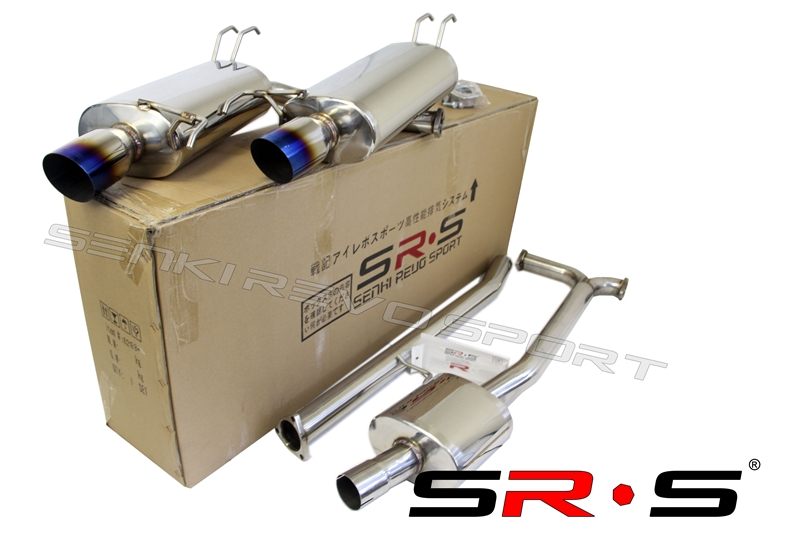 srs acura tsx 04 08 type re burnt tip catback exhaust system