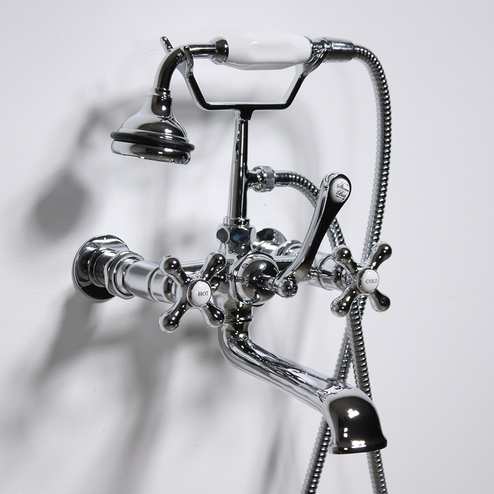 vf110twmchr victoriana wall mount tub faucet with handheld shower in chrome