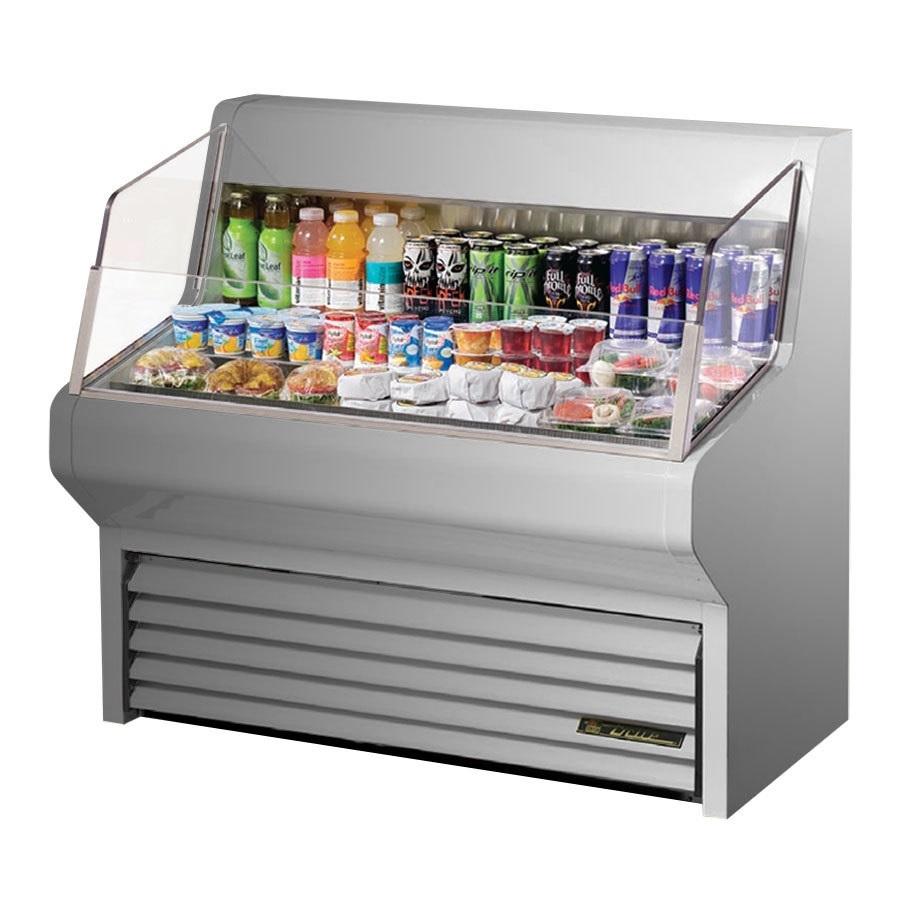 true refrigerator horizontal air curtain merch 48 s s thac 48 s ld