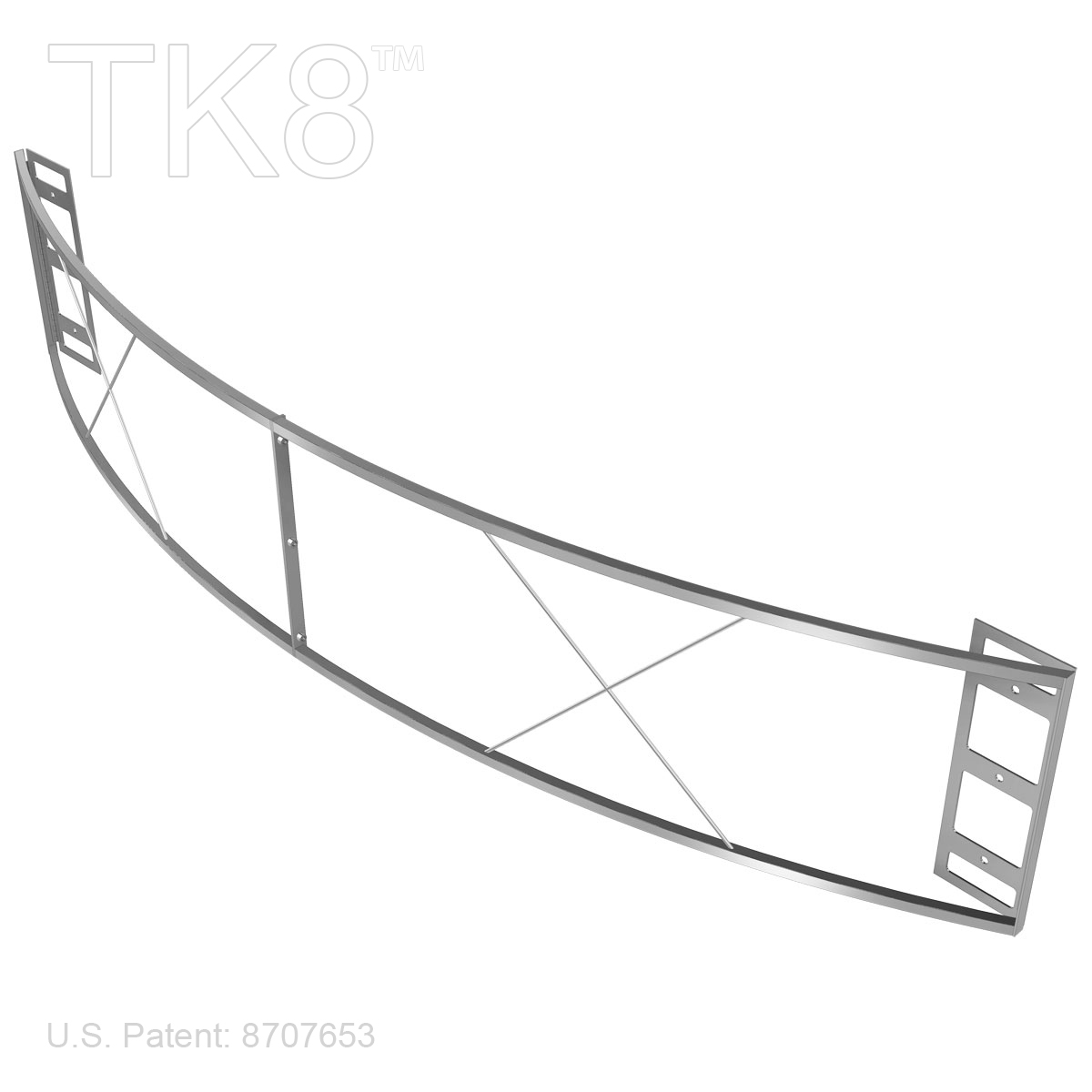 Sign Frame Curved 99in By 18in For Tk8 Displays